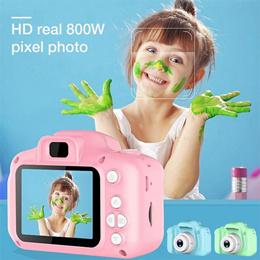 硅胶儿童迷你摄像机1080P高清屏幕摄像机视频玩具800万像素孩子相机户外摄影孩子生日Gif
