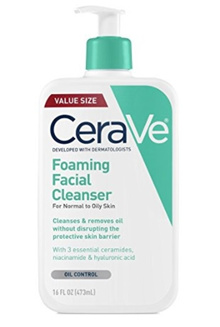[Qprime]CeraVe Foaming Facial Cleanser 16 oz for Daily Face Washing Normal to Oily Skin Value Size!!
