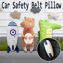 Seatbelt Pillow for Children Seat Safety Belt Protector Cotton and linen Marvel Style Cushion Strap Cover Headrest Neck Support for Kids 1
