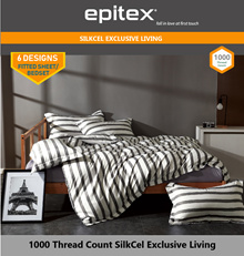 Epitex 1000TC SilkCel Printed Fitted Sheet Set / Bed Sets 6 DESIGNS AVAILABLE!