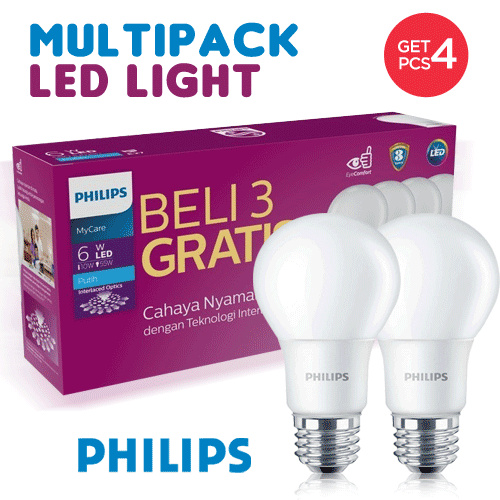 Buy 3 get 1 free - PHILIPS Special Promo Multipack LED Light