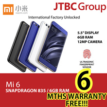 Mi 6 128GB Smartphone  / 6GB RAM / FREE 6 MTHS WARRANTY | GLOBAL ROM | XIAOMI