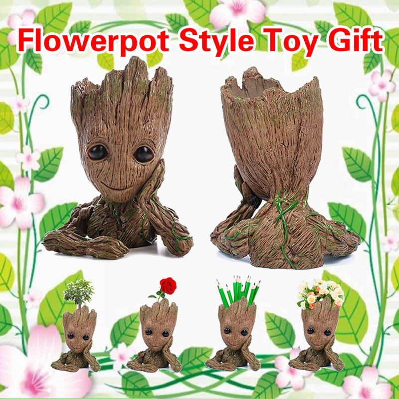 """Guardians of The Galaxy Vol 2 Baby Groot 7/"""" Figure Flowerpot Style Toy Gift"""