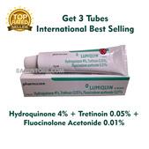 3 Tubes x Lumiquin Cream Hydroquinone + Tretinoin for Melasma / Hyperpigmentation Treatment Skincare