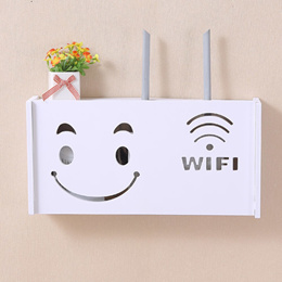 Wireless router storage box on the wall hanging cat decoration block WIFI light rack set-top boxes f