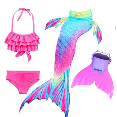 f83ab871c7298 Children Swimming Mermaid Tails With Monofin Fin Cosplay Costume Girls Kids  Swimsuit Ariel Swimmable