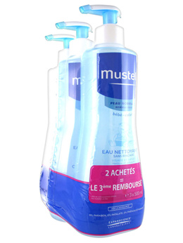Mustela No-Rinse Cleansing Water 3 x 500ml
