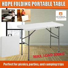 HDPE folding portable table for office telescopic outdoor publicity simple conference and outdoor