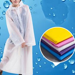 Portable Women Waterproof Riding Raincoat Outdoor Travel Clothes Poncho Hooded Knee Length Rainwear