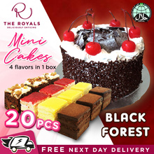 600G Black Forest Classic Moist Cake 17cm / 20pcs Mini Cakes Usual $58.00