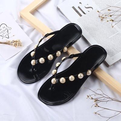 69fb6227a Bailehou Women Slippers Summer Beach Slippers Flip Flops Sandals Women Pearl  Fashion Slippers Ladies