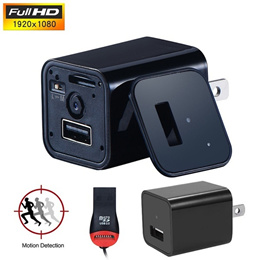 Covert USB Wall Charger Hidden Camera Motion Detection Nanny Camcorder Batteryless HD 1080P Video Re