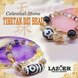 Lazoer Genuine Tibetan DZI  Bead Bracelet