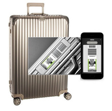 ★ Coupon price $ 1015 VAT included ★ Rimowa Carrier Topaz Titanium multi-wheel size 73 electronic tag