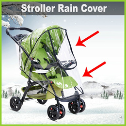 [Life+] Transparent Stroller Poncho / Rain Cover ★ Ventilation Holes • Keeps your Child Dry