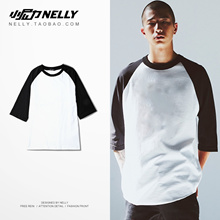 Short sleeve T-shirt men s five and a half sleeve sleeve loose batwing
