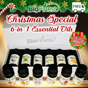 [ Christmas Gifts ] [6 in 1] Pure Essential Oil Gift Set/ Starter Kit★ Lavender/ Lemongrass/  Lemon