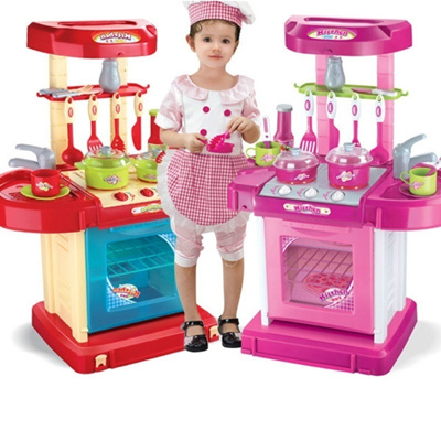 Children Boys And Girls Multifunctional Suitcase Simulation Kitchen Kitchen Utensils Toys