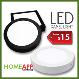 LED Surface Panel Light ceiling mount 12 / 18 / 24 watts. Available in daylight warm black border