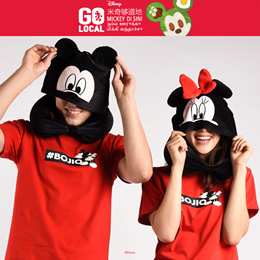 ♥ Disney Mickey and Minnie Hoodie Travel Pillow  ♥ - Two Way Design   Bestseller   Quality Product