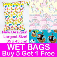 Wet Bags! 35x45cm Double Zip Snap Hook/ Diaper Clutch/Waterproof/ Gym Pool Childcare