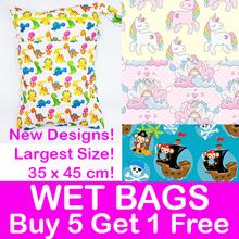Black Friday Sale! Wet Bag! 35x45cm Double Zip Snap Hook/ Diaper/Waterproof/ Gym Pool Childcare