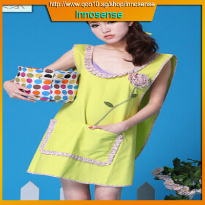6d76deb4344 Home Korean fashion cotton Home Furnishing anti clothing Manicure apron  smock female thickened water