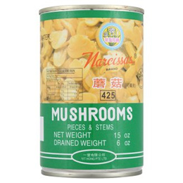 Narcissus Brand Mushrooms 425g [Halal Certification]