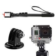 Extendable Selfie Stick Monopod Portable Self Portrait Tripod with Adapter Mount for  Hero 4 3+ 3 Ca