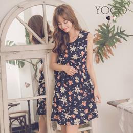 YOCO - Floral U-neck Dress-181545-Winter