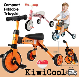 Baby Kids Children Foldable Tricycle / Bike / Scooter for Toddlers / Swivel Car