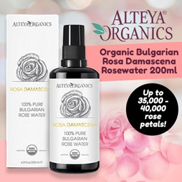 FRESH! Alteya Organics 100% Pure Rosewater 200ml - Alteya Organics [TONE/HYDRATE/UNCLOG PORES]