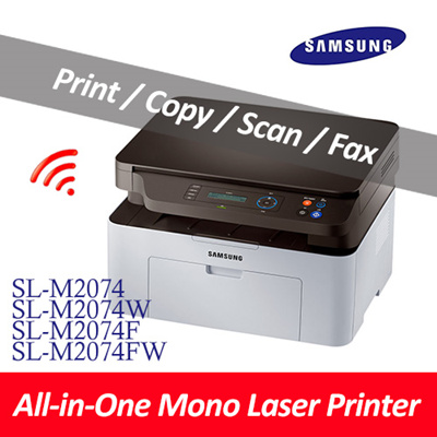 Samsung ElectronicsSamsung All In One Laser Printer / Print / Scan / Copy /  Fax / SL-M2074 / SL-M2074W / SL-M2074F / /SL-M2074FW / Wireless NFC /