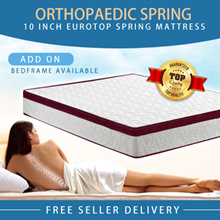 Medellin® [Orthopaedic Spring] 8/10/12inch EuroTop Spring Mattress ALL SIZES AVAILABLE |Single Queen