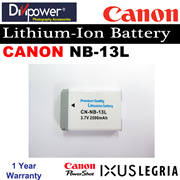 Canon NB-13L Lithium-ion Battery for Powershot IXUS Camera by Divipower