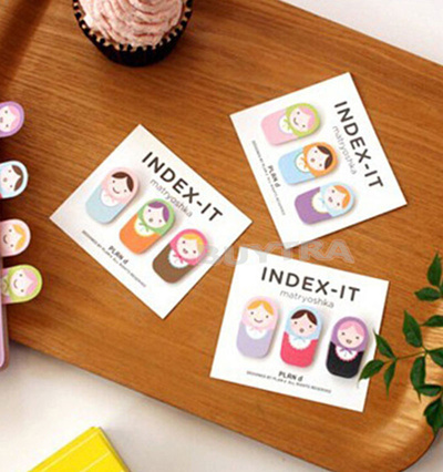 NEW Matryoshka Doll Sticker Post It Bookmark Marker Memo Flags Sticky Notes