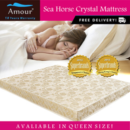 SEA HORSE BRAND CRYSTAL FOAM MATTRESS 7 INCH Queen Size / FREE DELIVERY