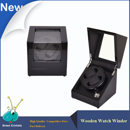 Orginal Black Highlight Wooden Watch Winder,5 Modes rotation Quite Motor Automatic Watch Winders