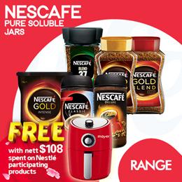 [NESTLE] [SPEND $108 FREE AIR FRYER] NESCAFE COFFEE JARS. Pure Soluble Coffee
