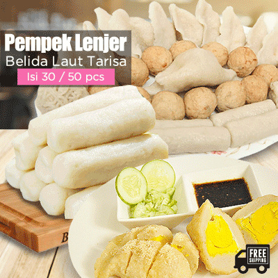 [Free Shipping YES] PAKET A Pempek Lenjer Belida Laut Tarisa Deals for only Rp162.000 instead of Rp162.000