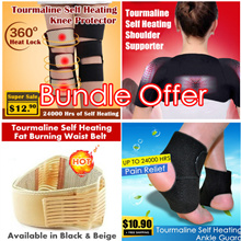 Premium Unisex Health-Care Tourmaline Self Heating Series / For your Waist Shoulder Knee and Ankle