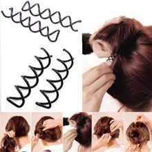 10x Spiral Spin Screw Bobby Pin Hair Clip Twist Barrette Hairpins Black  Colour 61ed66fe612a