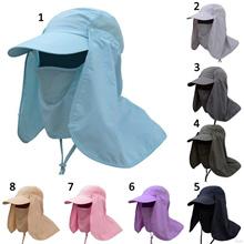 Women Men Sun Hats Sun Caps Fishing Hat Protection Face Neck Cover Sunscreen
