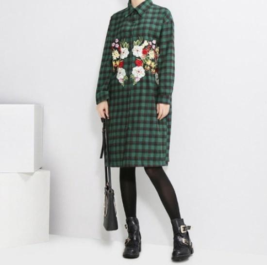 リッチマーケット】女性ユニケチェックガーデンワンピースUQ7OP222 面ワンピース/ 韓国ファッション