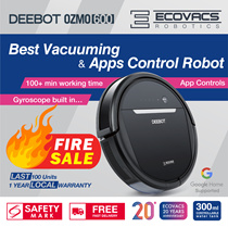 Ecovacs OZMO600 Robot Vacuum Cleaner+110 mins Mopping 2 in 1+App Control