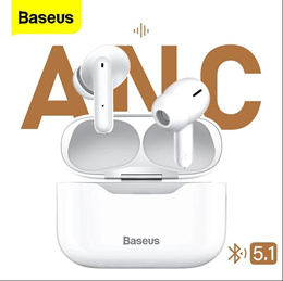 Baseus S1 ANC 액티브 소음 차단 Bluetooth 5.1 이어폰 TWS True Wireless 이어 버드 하이파이 오디오 게임용 헤드폰 터치 컨트롤