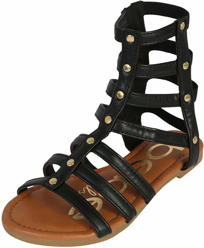 b002808597a54 Qoo10 - Bebe bebe Girls Strappy Gladiator Sandal (Toddler Little Kid ...
