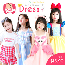 CupKidsLove❤ 27 July New ❤ 1-12Y ❤ Girls Korean Style Fashion Dresses ❤ Many Designs ❤ Kids Dress ❤