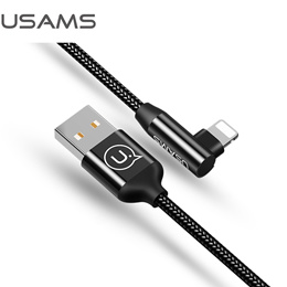 Right-Angle Braided Lightning Cable  -- U-Fun series 1.2m