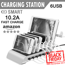 Charging Station★4/5/6/8 Port USB Charger Stand Charging Dock Organizer Multiple USB Charger Desktop